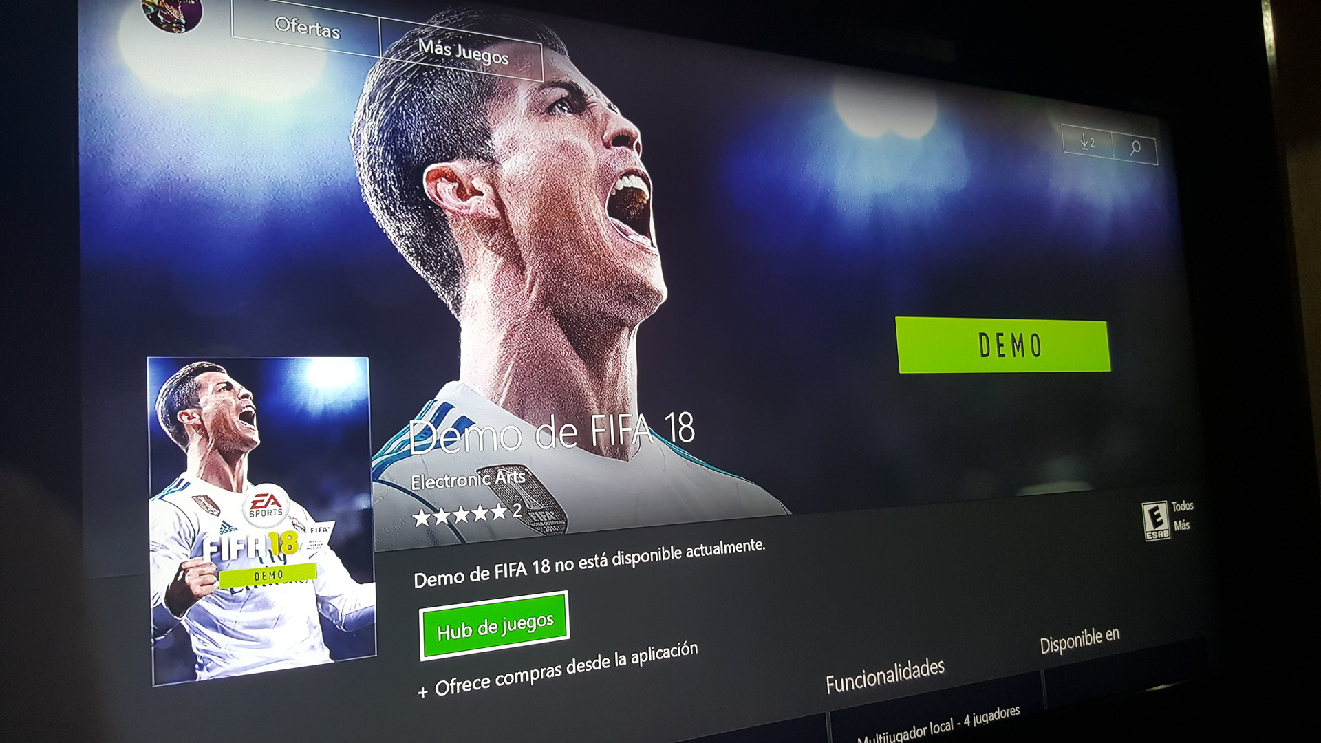 Demo de FIFA 18 en Xbox One! (Ya disponible actualizado )