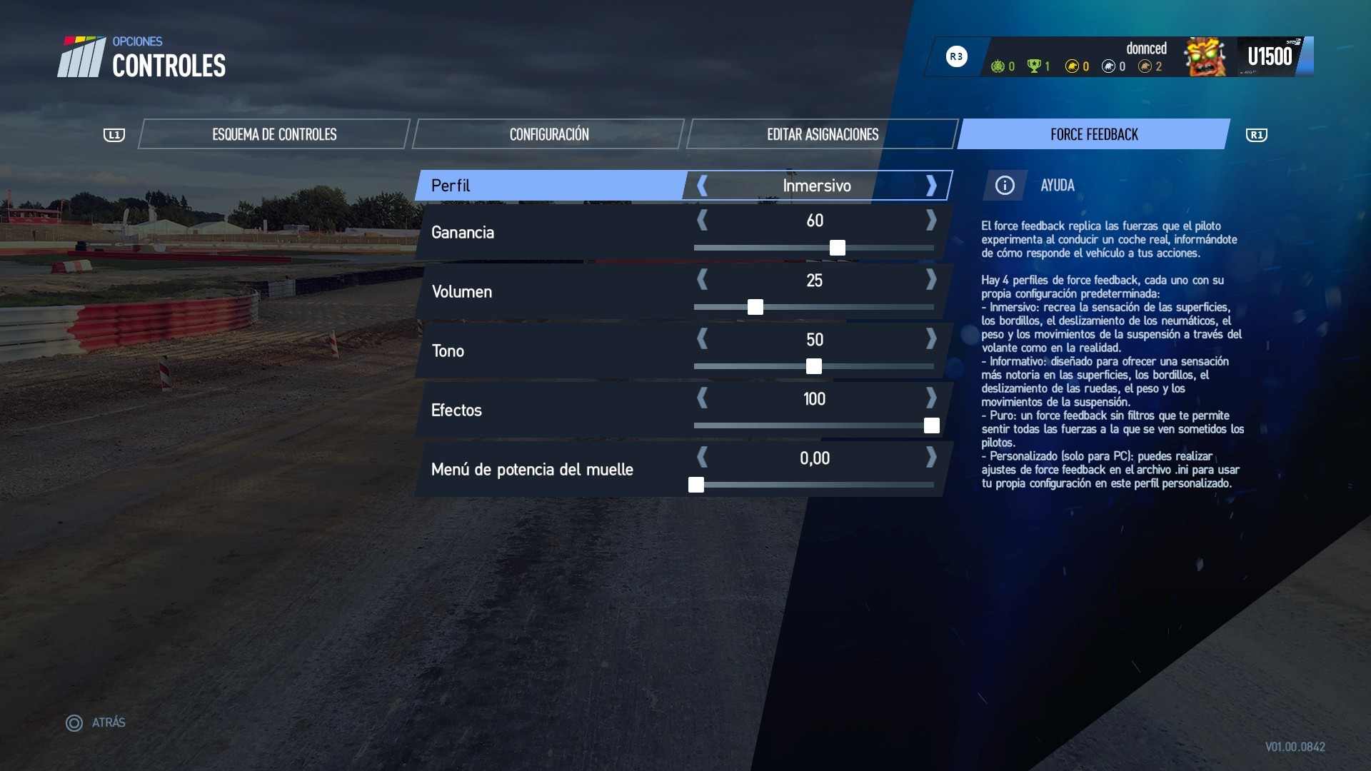 Optimal configuration, FFB settings for Thrustmaster T150