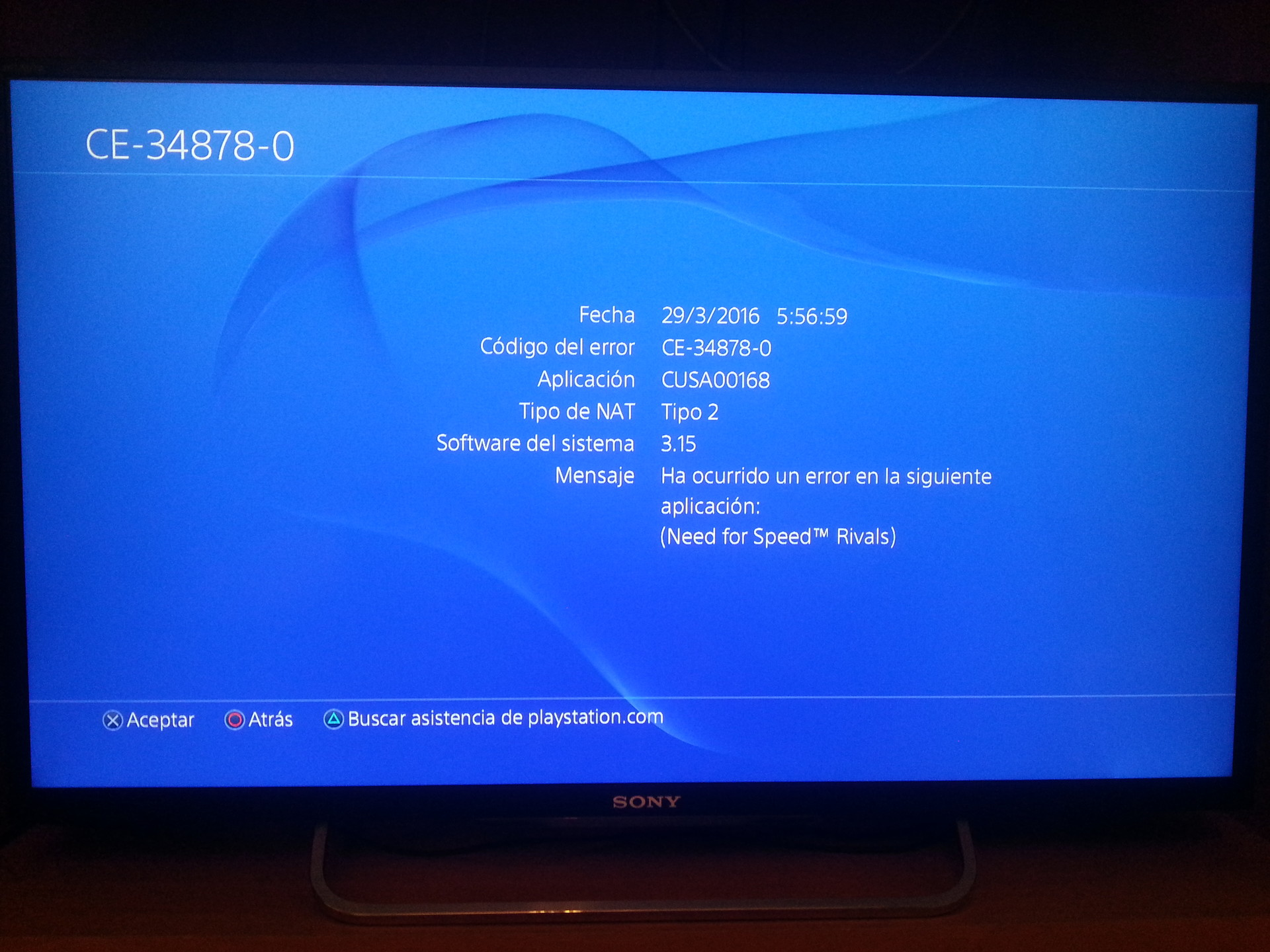 how to fix ps4 error ce 34878 0