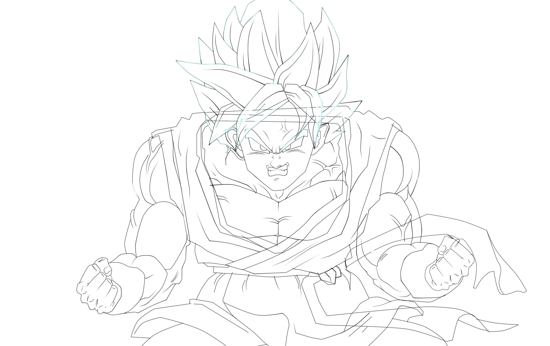 Goku Super Sayayin Dios Azul Kaioken X20 (a Color, Digital