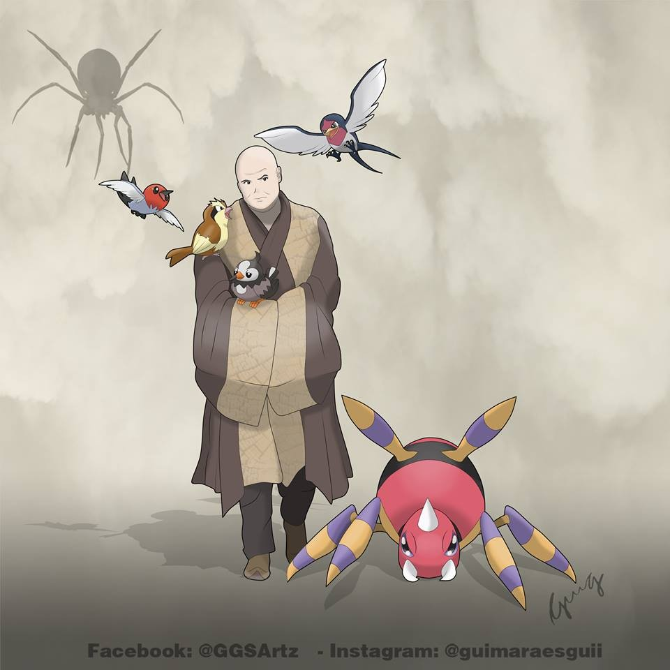Lord Varys y Ariados, Pidgey, Taillow, Starly y Fletchling