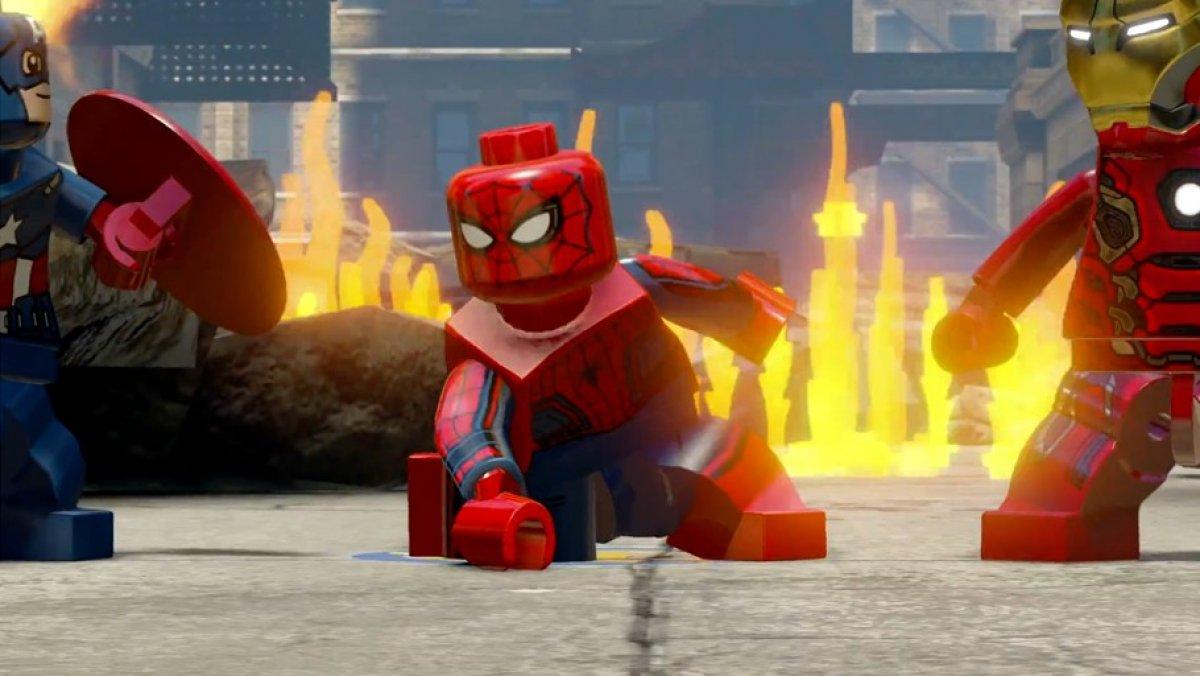video de lego marvel vengadores spiderman hd pack 3djuegos. Black Bedroom Furniture Sets. Home Design Ideas