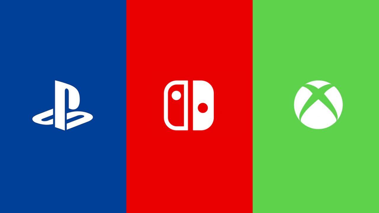 Logos de las consolas de Sony, Microsoft y Nintendo