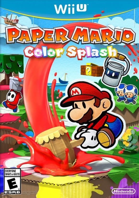Resultado de imagen de paper mario color splash wii u CARATULA