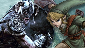 el tamao de los mapas de Zelda con Skyrim