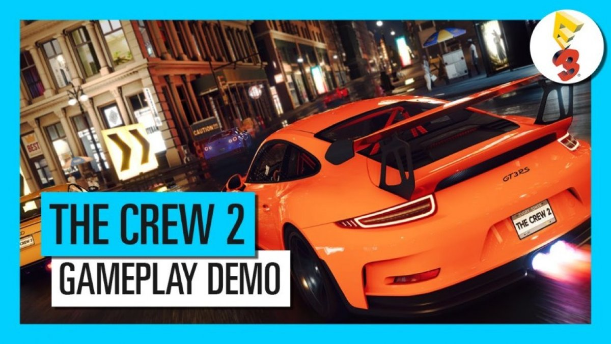 video de the crew 2 demostraci n gameplay e3 2017 pc ps4 xone. Black Bedroom Furniture Sets. Home Design Ideas