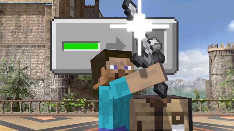 Super Smash Bros Ultimate presenta a su luchador más inesperado: Minecraft