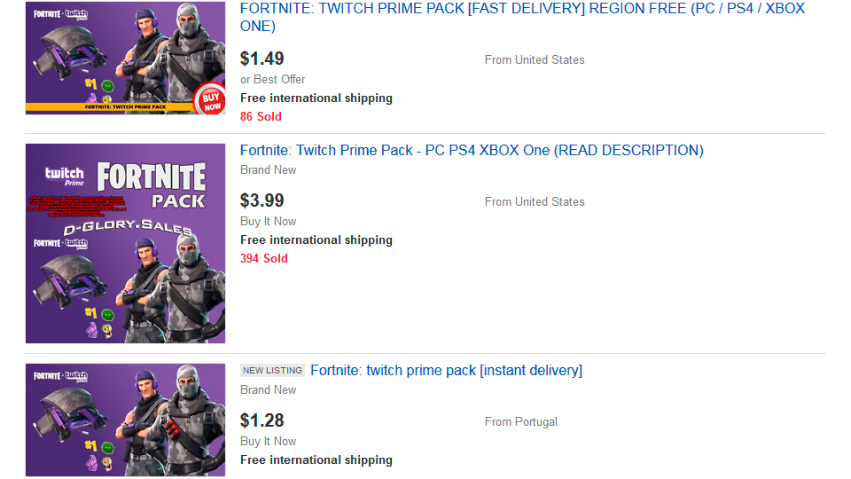 Twitch Prime Pack 3 Fortnite